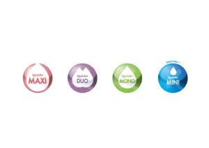 La campagne de lancement de la gamme Kastalia a été enrichie avec des nouveaux logos pour postionner chacune des référence de la gamme Kastalia.