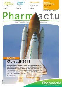 couverture magazine pharmactu - conception bigfoot pour pharmactiv