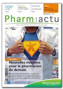 couverture magazine pharmactu - conception bigfoot pour pharmactiv magazine entreprise