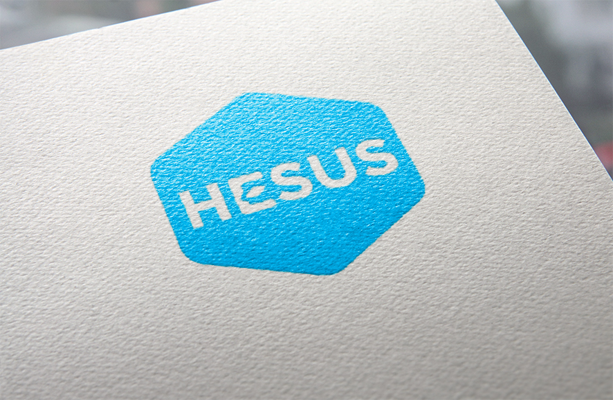 L'agence Bigfoot, spécialiste en communication BtoB a conçu le logo de la société Hesus.