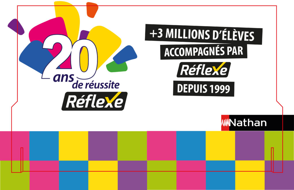 habillage promotionnel de la campagne Nathan Réflexe