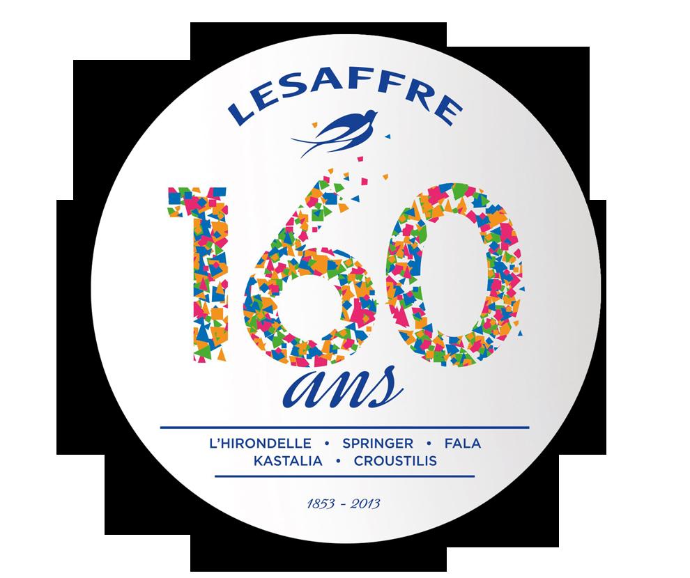logo anniversaire Lesaffre 160 ans. Conception Bigfoot